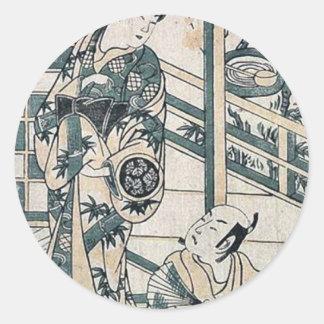 Kyoto appearance by Torii Kiyomasu Sticker