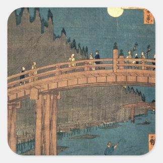 Kyoto bridge by moonlight stickers