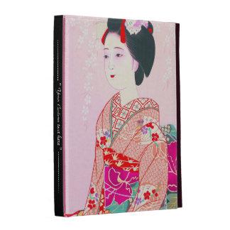 Kyoto Brocade, Four Leaves - Spring japanese lady iPad Folio Covers