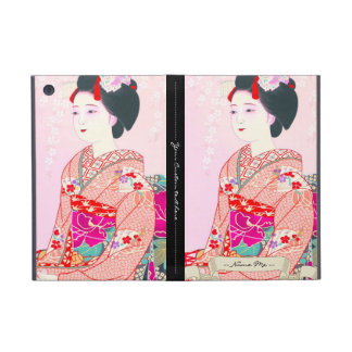 Kyoto Brocade, Four Leaves - Spring japanese lady iPad Mini Cover