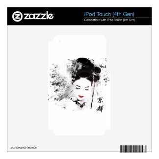 Kyoto Geisha Skins For iPod Touch 4G
