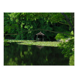 Kyoto Japan Reflections Boathouse Posters