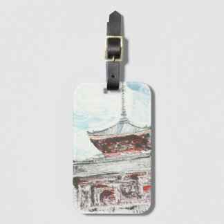 Kyoto Japan Temple Luggage Tag with Card Holder
