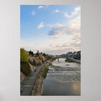 Kyoto - Kamo River walk path Posters