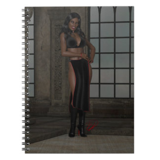 Kyra Kunti Beautiful African Vampire Woman Spiral Notebook