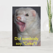 Kyra the Ferret Card
