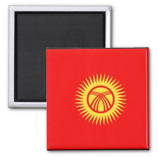 Kyrghyzstan Flag 2 Inch Square Magnet
