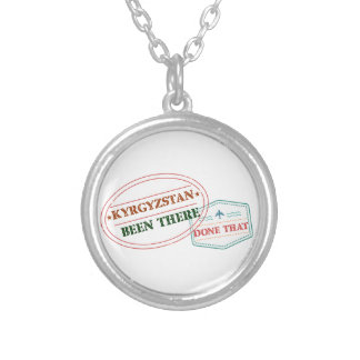 Kyrgyzstan Been There Done That Silver Plated Necklace