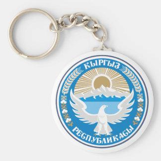 Kyrgyzstan COA Basic Round Button Keychain