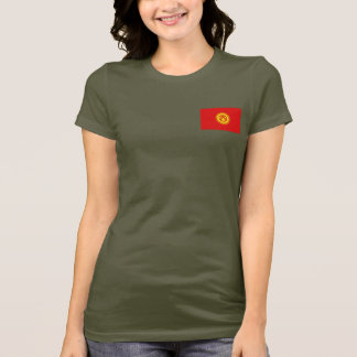 Kyrgyzstan Flag and Map dk T-Shirt