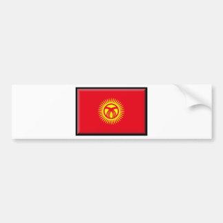 Kyrgyzstan Flag Car Bumper Sticker