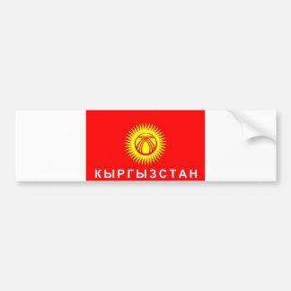 Kyrgyzstan flag country russian cyrillic text name bumper sticker