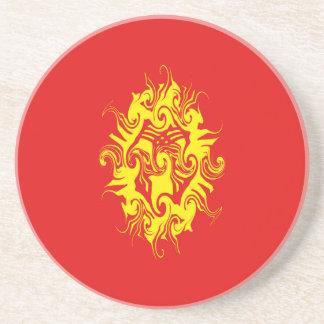 Kyrgyzstan Gnarly Flag Coaster