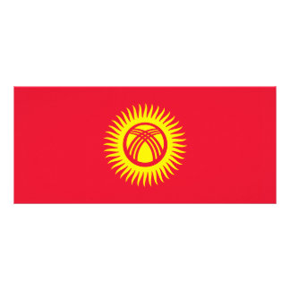 Kyrgyzstan – Kyrgyz Flag Personalized Rack Card