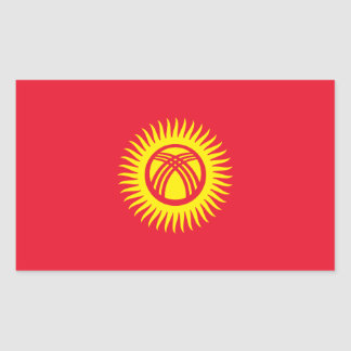 Kyrgyzstan/Kyrgyz/Kirghiz Republic Flag Rectangular Sticker