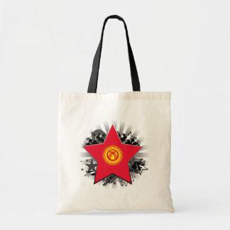 Kyrgyzstan Star Budget Tote Bag