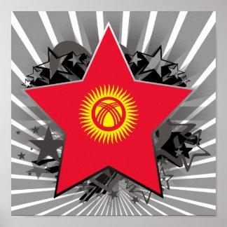 Kyrgyzstan Star Poster