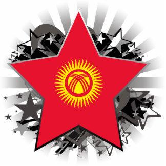 Kyrgyzstan Star Standing Photo Sculpture