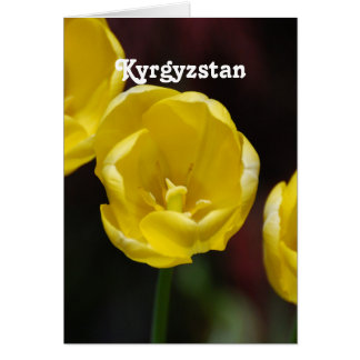 Kyrgyzstan Tulips Stationery Note Card