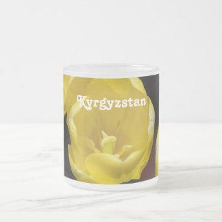 Kyrgyzstan Tulips 10 Oz Frosted Glass Coffee Mug