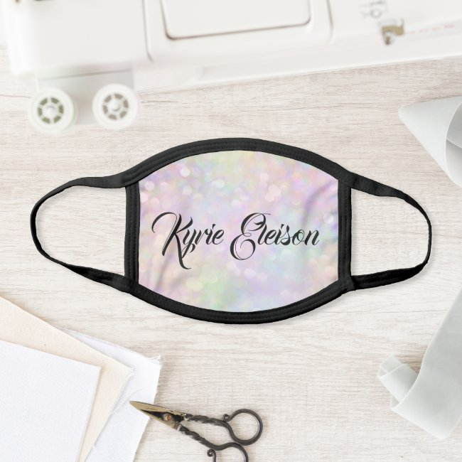 Kyrie Eleison Color Therapy Holographic Covid-19 Face Mask