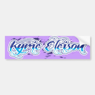 Kyrie Eleison Inspirational Bumper Sticker
