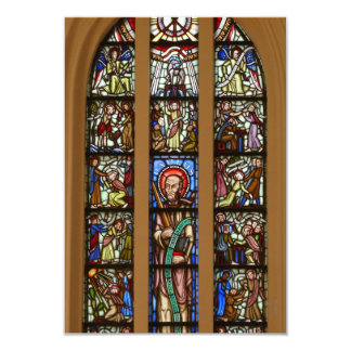 Kyrkfönster, church window card