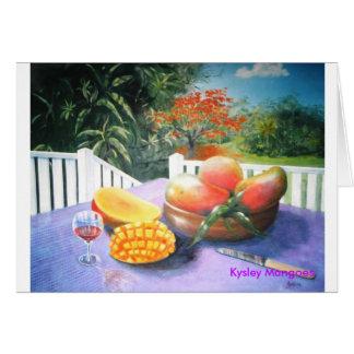 Kysley Mangoes Greeting Cards