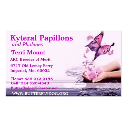 KYTERAL PAPILLONS BUSINESS CARD TEMPLATES