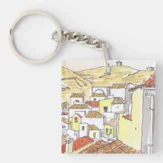Kythnos Greece Key Chain Acrylic Keychain