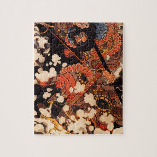 Kyusenpo Sacucho charging throught the snow Jigsaw Puzzles