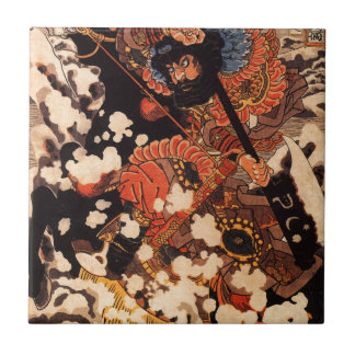 Kyusenpo Sacucho charging throught the snow Small Square Tile
