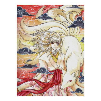 Kyuubi no Kitsune Canvas Print