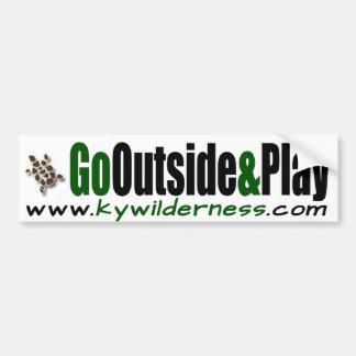 KYWilderness Go Outside & Play Car Bumper Sticker