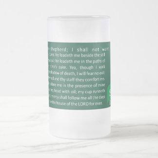 KZ09-My Shepherd© Frosted Glass Beer Mug