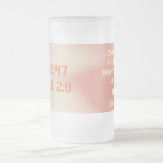 KZ10-Highly Favoured© Frosted Glass Beer Mug