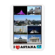 KZ Kazakhstan - Astana - I Love Mosaic - Magnet