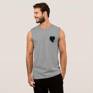 KZaiz Blue Hart T-Shirt