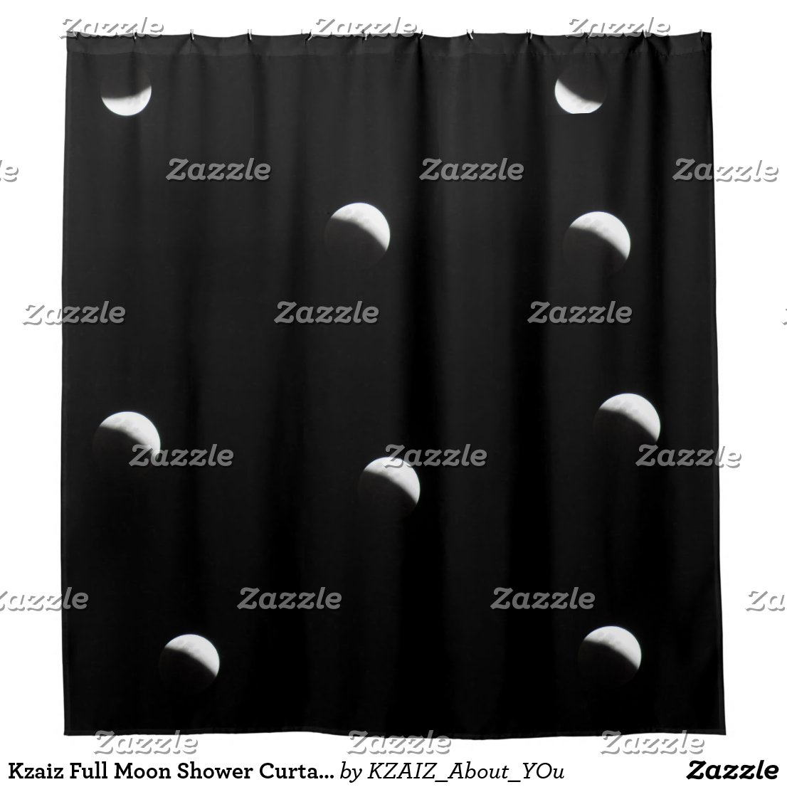 Kzaiz Full Moon Shower Curtain