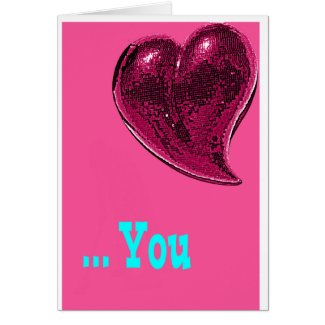 KZAIZ PINK LOVE GREETING CARD