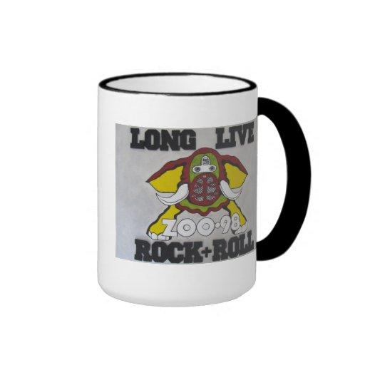 KZEW 98 Long Live Rock & Roll Ringer Coffee Mug