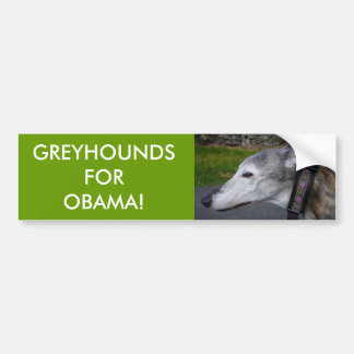 L1000290, GREYHOUNDS FOR OBAMA! BUMPER STICKER