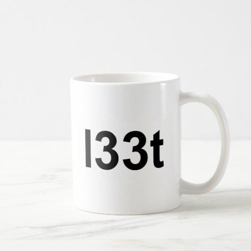 l33t classic white coffee mug