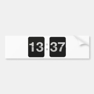 L33T Clock 13:37 Bumper Sticker