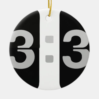L33T Clock 13:37 Ceramic Ornament