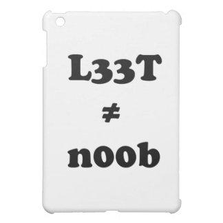 l33t leet n00b noob iPad mini cover
