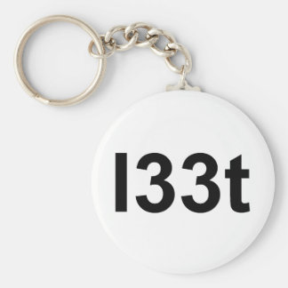 l33t llavero redondo tipo pin