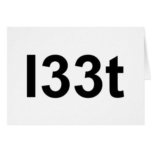 l33t tarjeta de felicitación