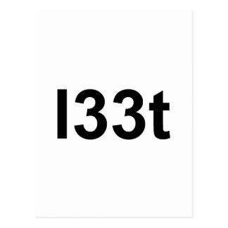 l33t tarjeta postal