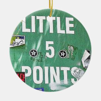 L5P. Little 5 Points, Atlanta, Georgia, Christmas Ceramic Ornament